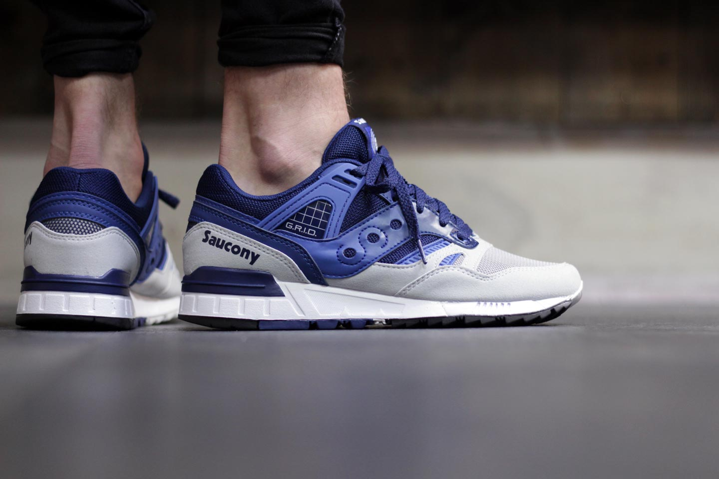 Saucony Grey And Blue Shoes