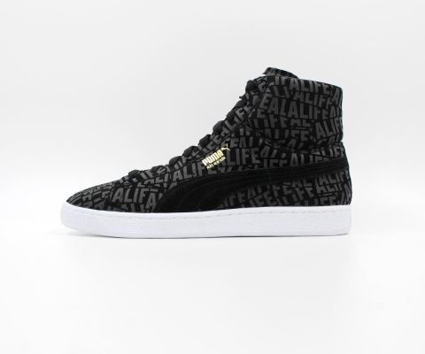 Puma Suede Mid x Stuck Up x ALIFE (Black/White)