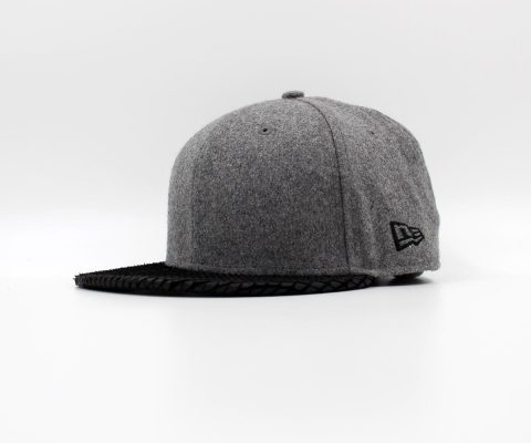 New Era Cap Leather Vize Grey