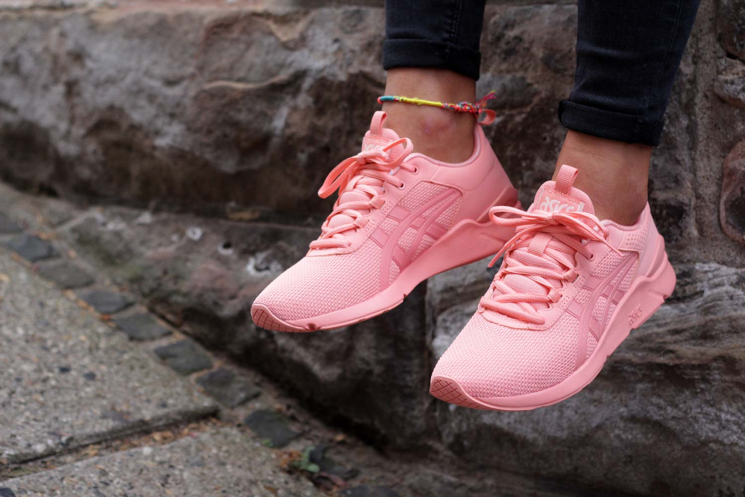 asics gel lyte runner peach