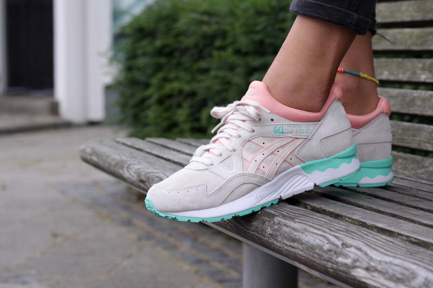 taille 40 a816d 8e52c canada asics gel lyte 5 pink green ecf2f 175db
