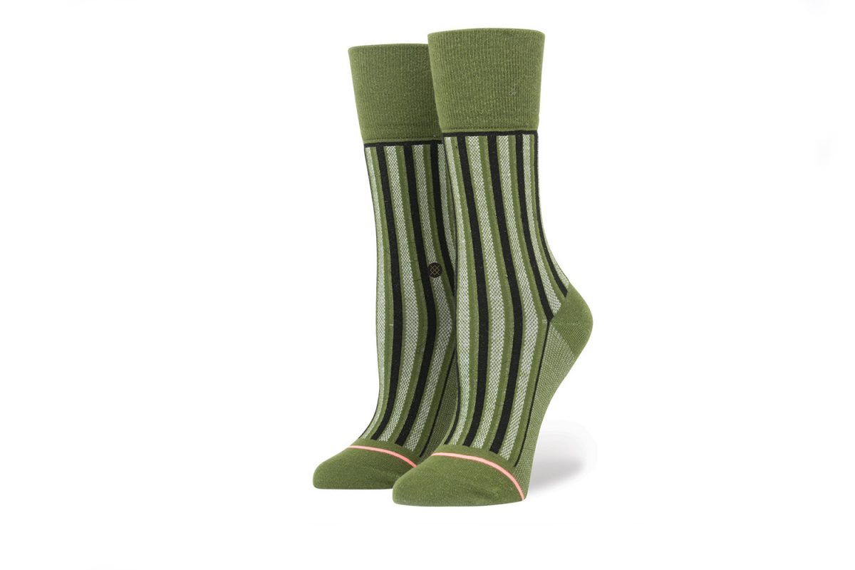 Stance Stripe Up Army Green W515C16STR