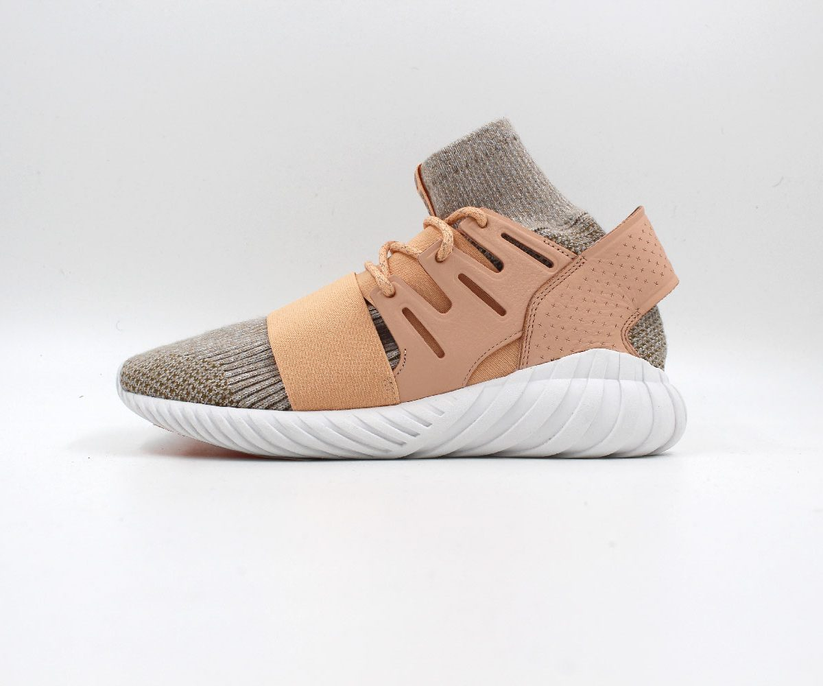 Tubular Doom Primeknit Mens in Vinatge White / Light Gray Kaj Todt