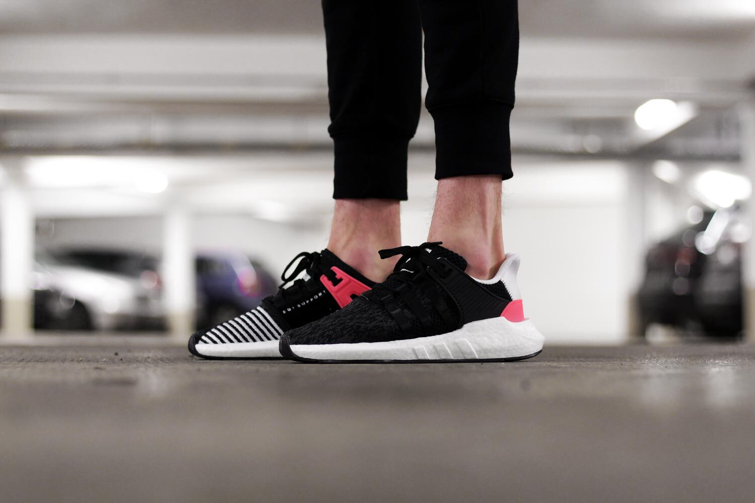 adidas EQT Support RF Grade School (Core Black/Turbo) VILLA