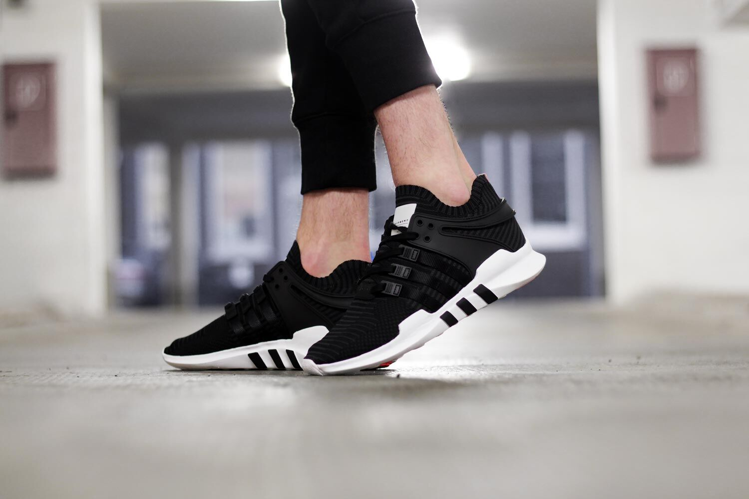 ADIDAS EQT SUPPORT ADV COLT BLACK ON FOOT