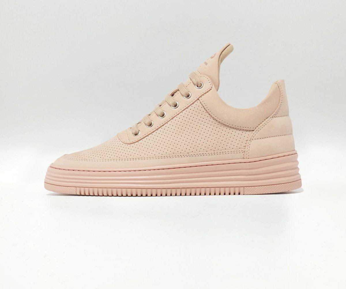Filling Pieces Low Top Perforated Tone Pink