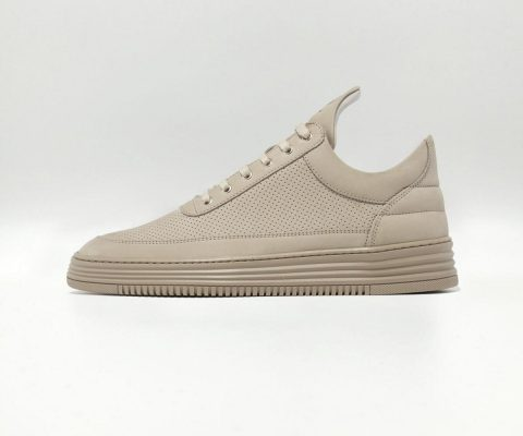 Filling Pieces Low Top Perforated Taupe