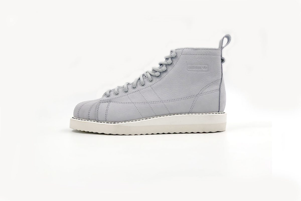 adidas-Superstar-Boot Grey Leather