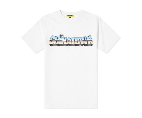 Chinatown Chrome Skull Tee White